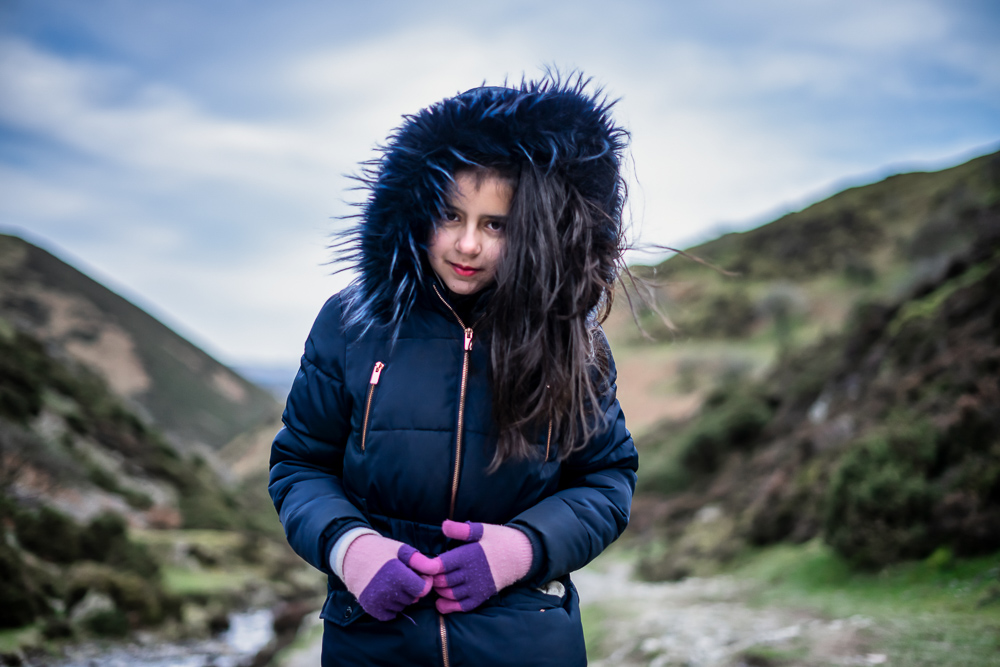 Close up portrait of girl in Carding Mill Valley